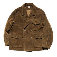 CORDUROY TAILORED DOUBLE JACKET -GOLDEN BROWN-