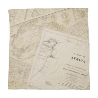 SOFT COTTON SCARF (MAP) -KHAKI-