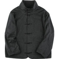 CASHMERE CHINESE JACKET -GRAY-