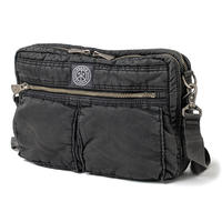 SUPER NYLON SHOULDER BAG M -BLACK-