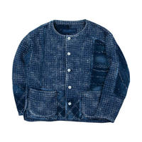PC KOGIN NO COLLAR JACKET -BLUE-