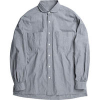 WIDE POCKET SHIRT -GRAY-