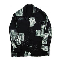 ALOHA LONG SHIRT TIMES SQUARE -BLACK-