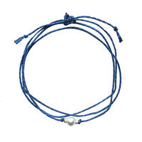 H/W PEARL NECKLACE -BLUE-