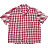 KEROUAC GINGHAM CHECK SHIRT -RED-