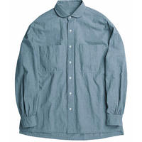 WIDE POCKET SHIRT -BLUE-