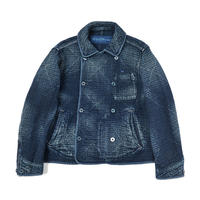 SASHIKO DOUBLE JACKET -BLUE-