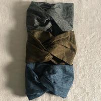 クロスヘアターバン ヘリンボーン ダブルガーゼ素材