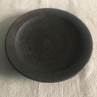 青鳥窯 マンガン6寸リム皿