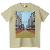【銀バル】オーガニックコットンTシャツ - ミルキーグレー