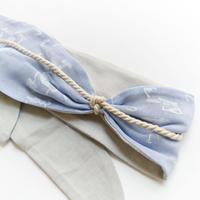 MESH HAIR BAND <BLUE ORGANDY>