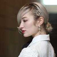 【pour Mademoiselle】スクエアパールヘアピン