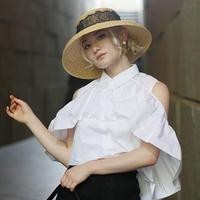 【pour Mademoiselle】レースカサブランカハット