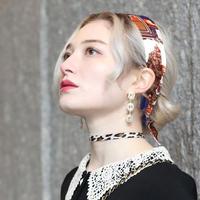 【pour Mademoiselle】レオパードチョーカー ブラウン/ホワイト