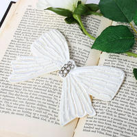 【pour Mademoiselle】ビーズリボンブローチ ホワイト