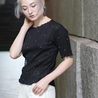 【pour Mademoiselle】パールシースルーTシャツ