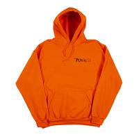 Brush Logo Hooded Sweatshirt (Orange)