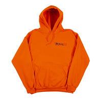 Brush Logo Hooded Sweatshirt (Orange)