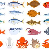 食べ物――海鮮1-4  PDF&音声データ
