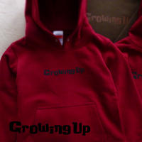 HOODED SWEAT PULLOVER 10.0oz for KiDS 110cm - Growing Up - #BURGUNDY x BLACK