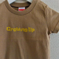 T SHiRT 5.6oz for KiDS 90cm - Growing Up - #SANDKHAKi x YELLOW
