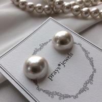 cotton pearl magnet pierced・earringsノンホールピアス