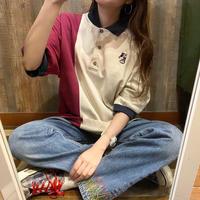 ミッキーデザインビッグポロシャツ