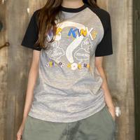 1980年代 ラグランスリーブバンドTシャツ  THE KINKS  S