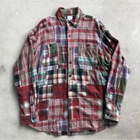 Poloパッチワークシャツ  M