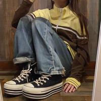 スケーター刺繍ジャージ