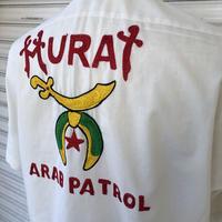 70'sフリーメイソン刺繍半袖シャツ