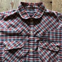 70年代リーバイス BIGE 長袖チェックシャツ M ⑤