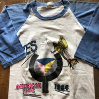 1984 YES パキスタンコットンラグランTシャツ