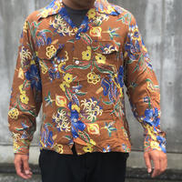 40's Daily Double L/S Hawaiian Shirt