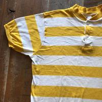 70's-80's USA製ボーダーヘンリーネックTシャツ