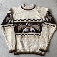 〜80's ネイティヴ柄アクリルニットセーター  XL