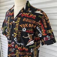 ハワイ製総柄開襟シャツ