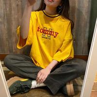 USA製刺繍ポリエステルTシャツ