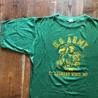70's 〜ARTEX U.S.ARMY 両面フロッキープリントTシャツ サイズL