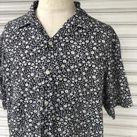 Ralph Lauren白黒花柄オープンカラーシャツ