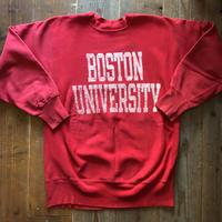 80's〜90'sUSA製BOSTON UNIVERSITYチャンピオンリバースウィーブXL
