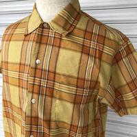 70's 半袖チェックシャツ