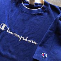 90年代〜CHAMPION でかロゴ刺繍Tシャツ L