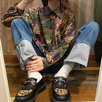 SILK柄シャツ
