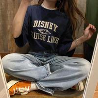 USA製ミッキーカレッジ風ワッペンTシャツ