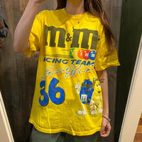 m&m'sカーレース両面プリントTシャツ