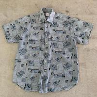 スクエアデザイン半袖シャツ