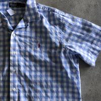 Ralph Lauren  半袖チェックシャツXL