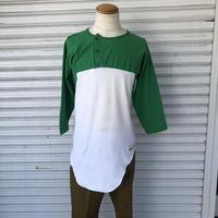 70's ラッセル7部袖ヘンリーネックTシャツ
