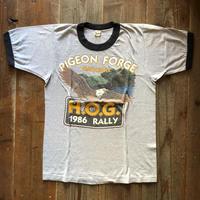 80's HARLEY DAVIDSON リンガーtシャツ
